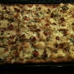 La pizza au camembert est cuite !