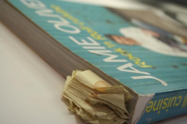 Mon livre de recettes de Jamie Oliver.