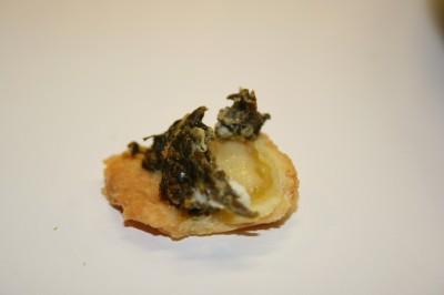 Micro bout de tarte aux épinards