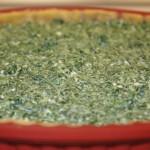 Tarte aux épinards prête à cuire