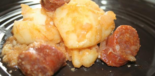 patates au chorizo