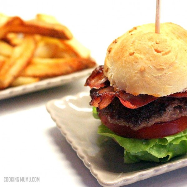 hamburger bacon