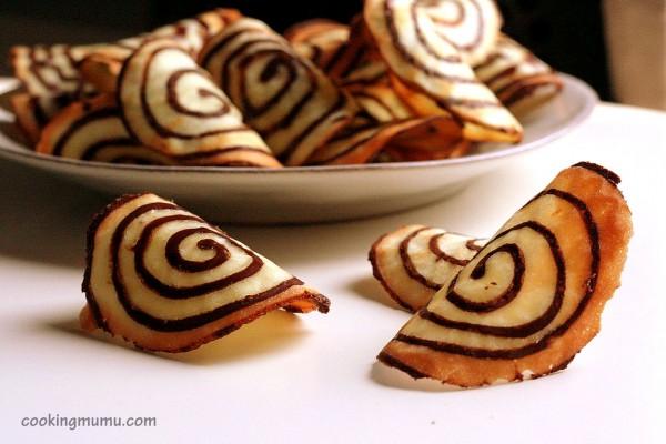 Tuile spirale au chocolat
