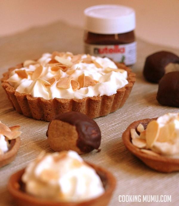 Fond de tarte Nutella châtaignes