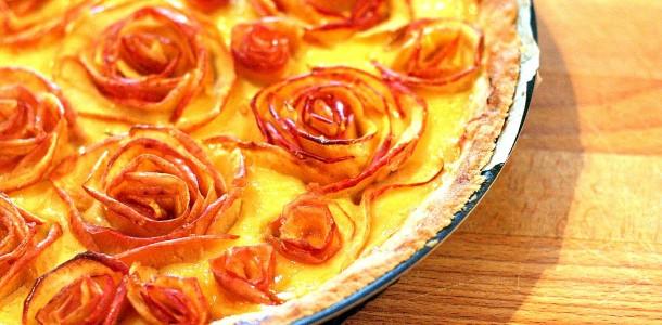 Tarte Aux Pommes En Fleurs Option Caramel Beurre Sale Pour Madame