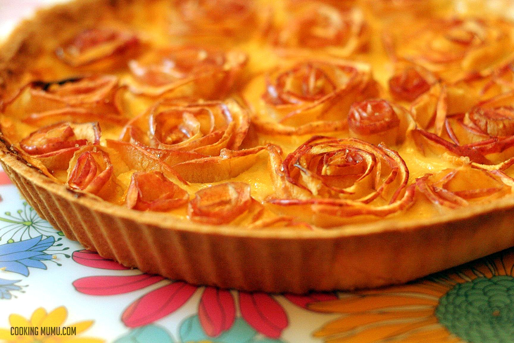 tarte aux pommes en fleurs option caramel beurre sal pour madame cooking mumu. Black Bedroom Furniture Sets. Home Design Ideas