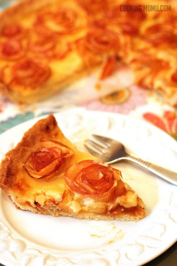 Tarte aux pommes revisitée caramel beurre salé