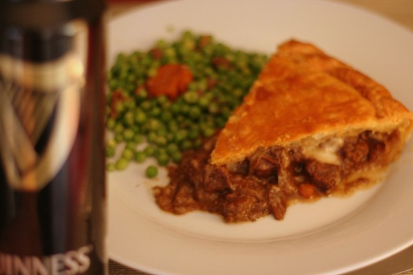 Guinness and steack pie