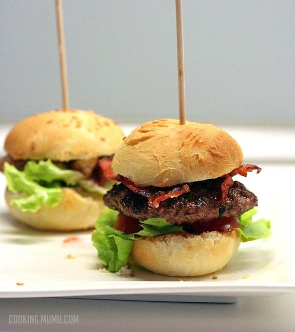 hamburger au bacon