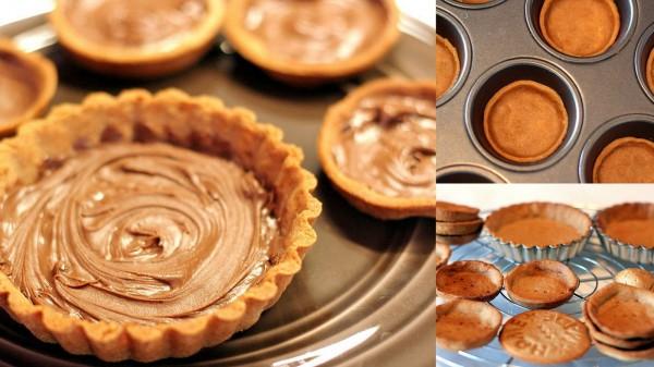Fond de tarte châtaignes et Nutella