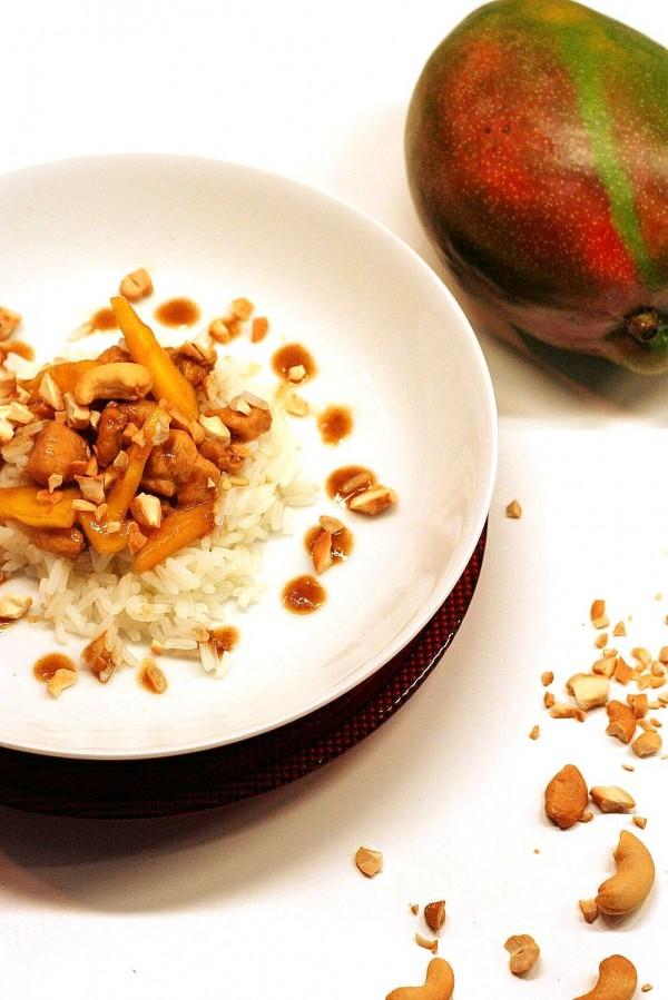Poulet mangue et noix de cajou