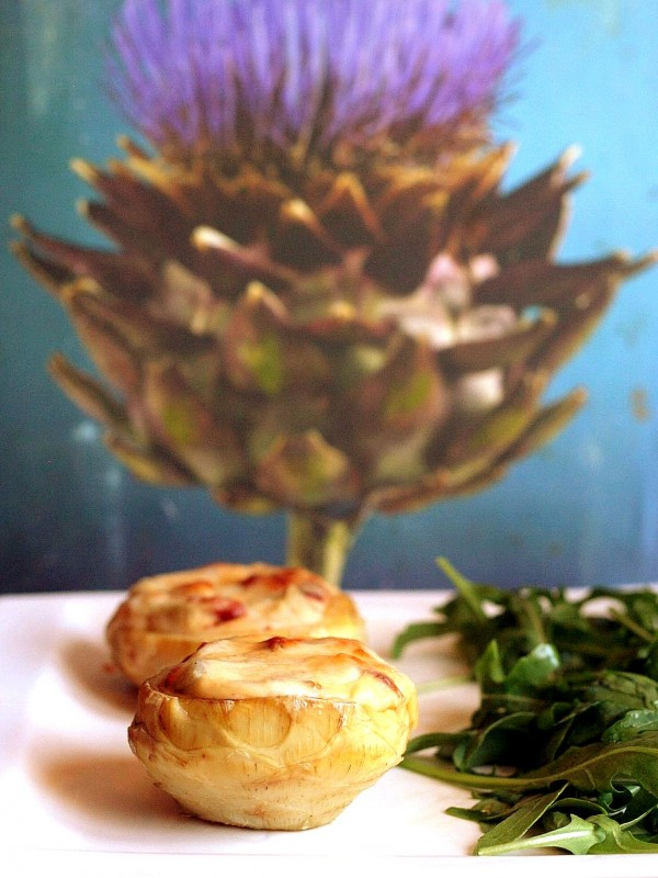 Fond d'artichaut béchamel et chorizo
