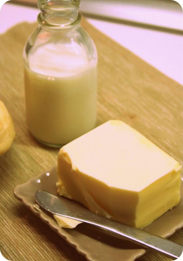 Lait et beurre