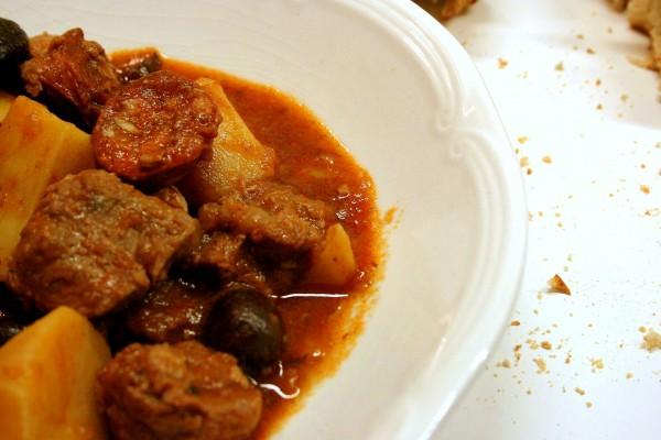 Assiette de veau au chorizo