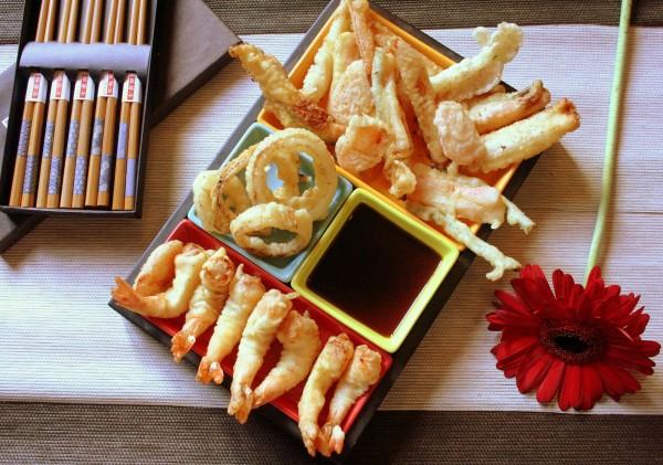 Assortiment de tempura