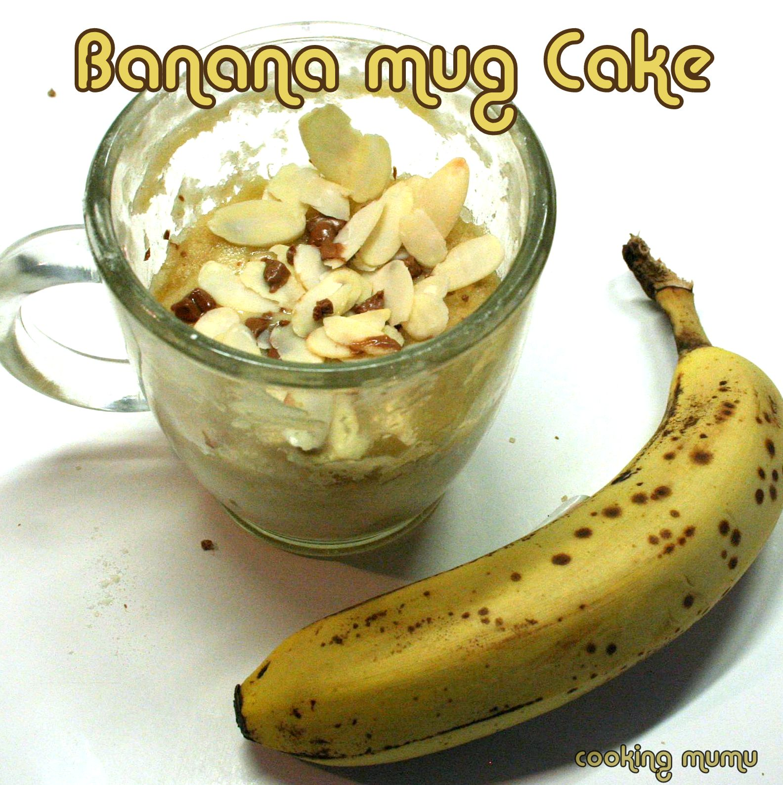 banana mug cake le banana bread en 5mn au micro ondes cooking mumu. Black Bedroom Furniture Sets. Home Design Ideas