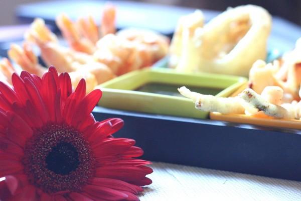 Tempura et fleur