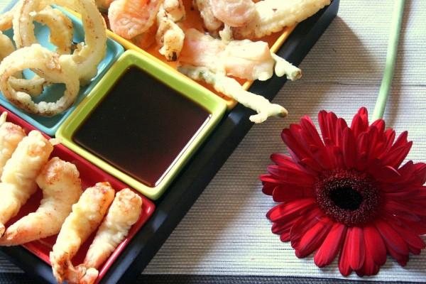Une fleur et des tempura