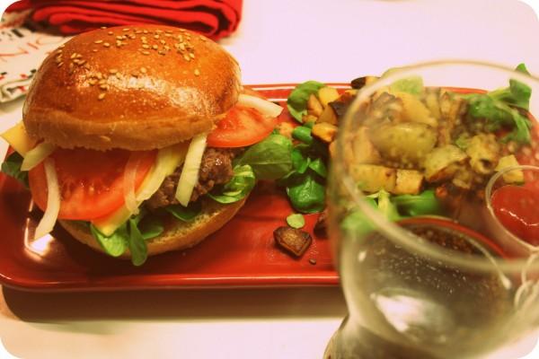 Burger garni