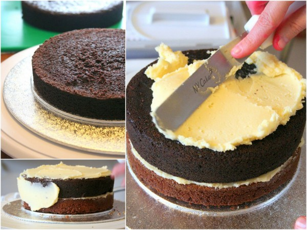 Montage du gâteau