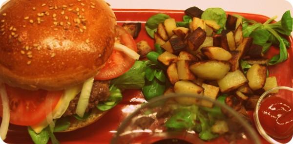 Plat burger
