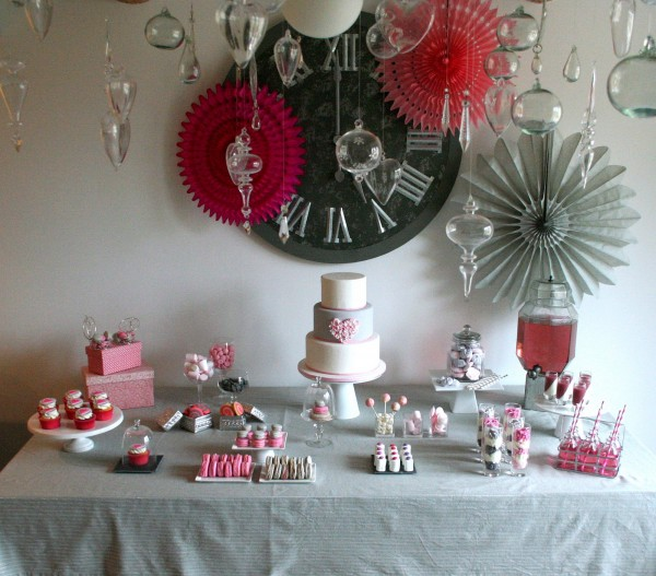 Sweet table rose et gris