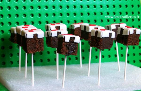 Cake pops gâteau anniversaire Minecraft