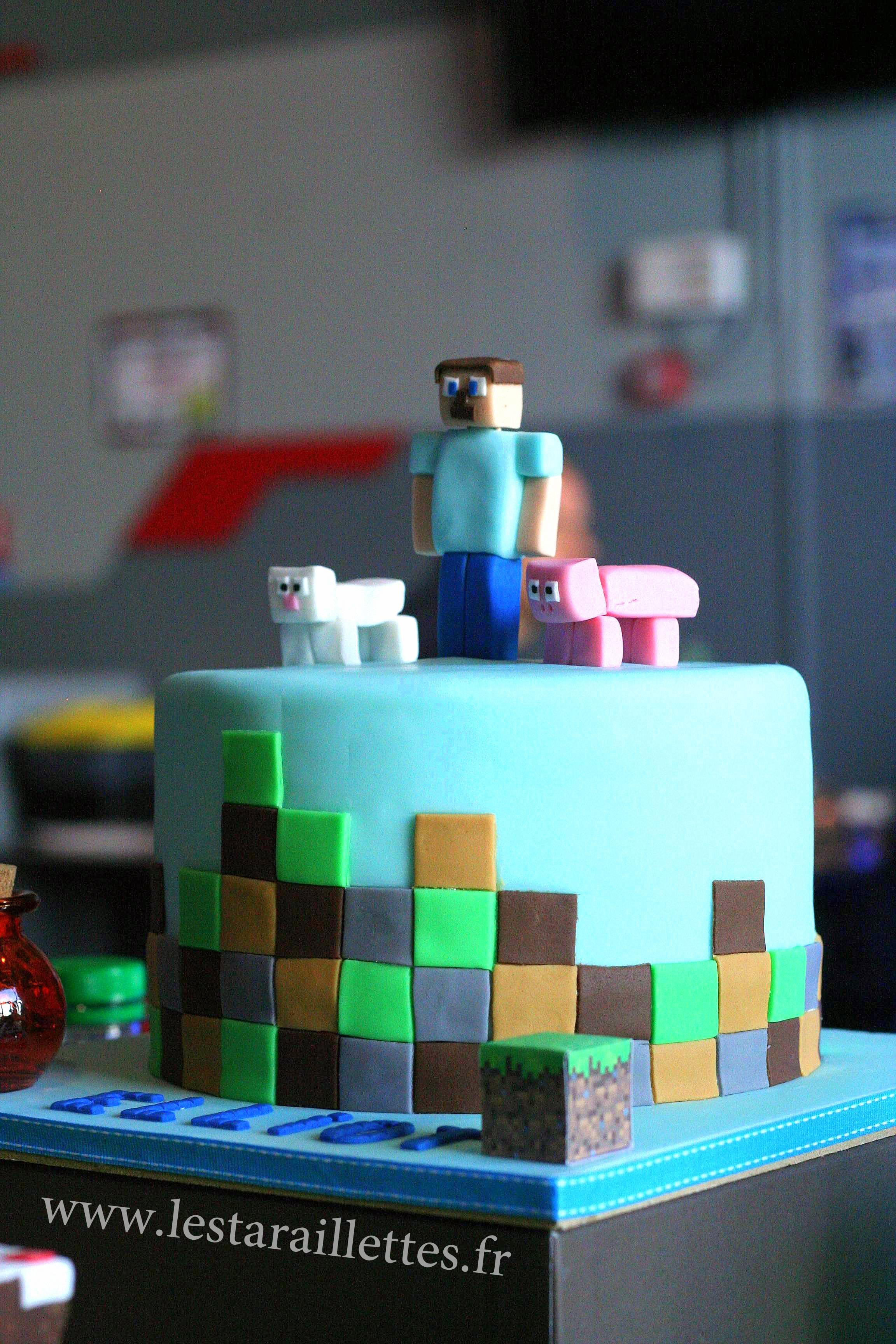 minecraft gateau anniversaire recette gateaux cake sweet decoration cookingmumu mod geburtstagskuchen gateau kuchen conteneurs unique jeux diamond bloc soooo enfant