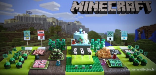 Sweet table MINECRAFT – Les Taraillettes.