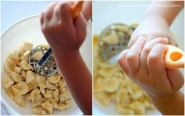 Ecraser les bananes en purée
