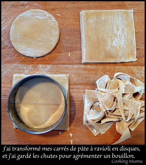 Feuilles pour raviolis chinois