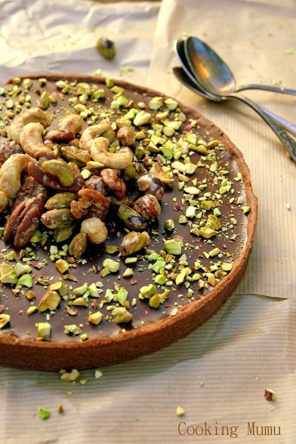 Tarte sirop d'érable et chocolat