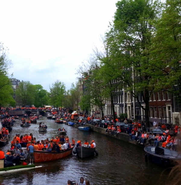 Canal pendant le King's day