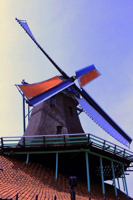 Moulin sur le toit