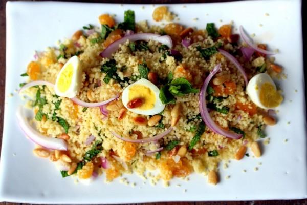 Salade menthe fruits secs