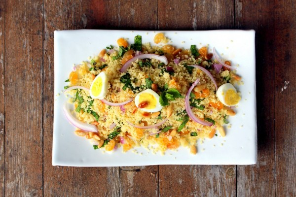 Salade menthe fruits secs semoule