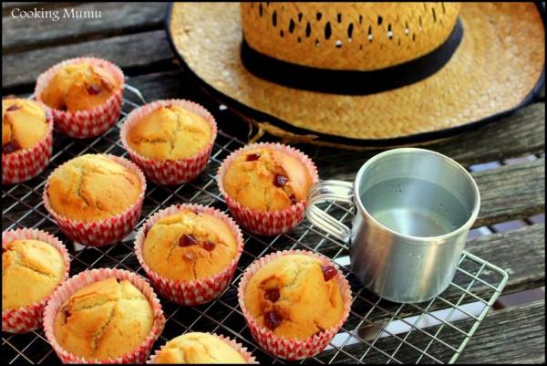 Muffins fraise framboise