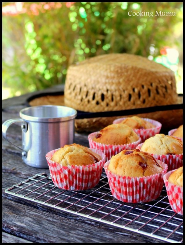 Muffins framboise fraise