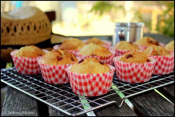 Muffins pâte de fruits fraises framboises