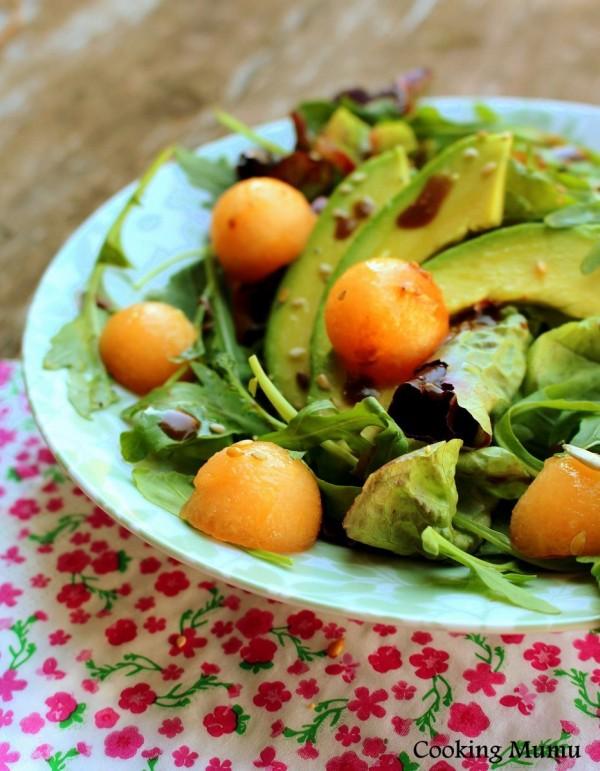 Salade billes de melon