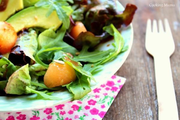 Salade melon et roquette
