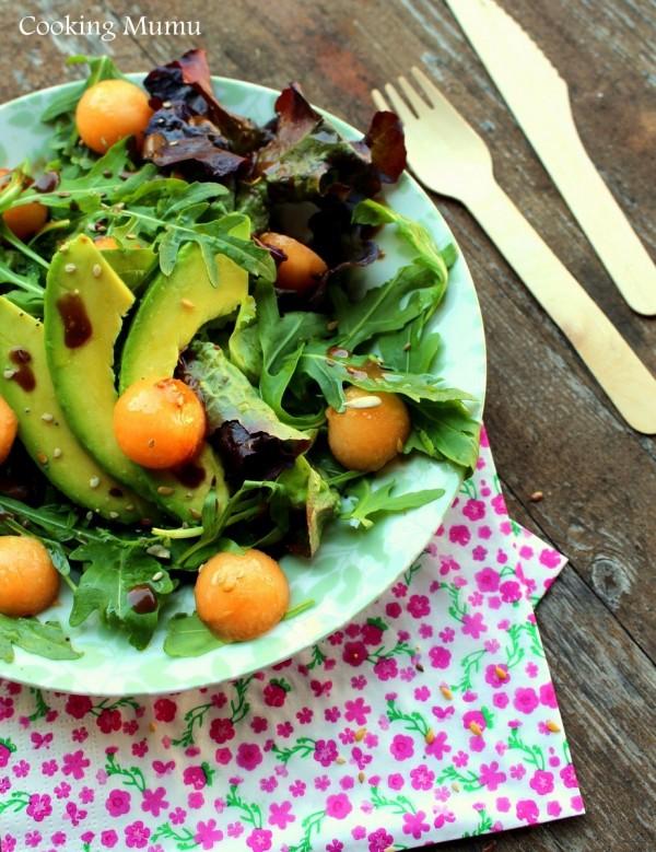 Salade melon roquette