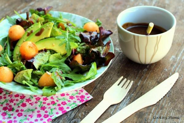 Salade melon vinaigrette au miel