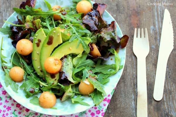 Salade roquette melon