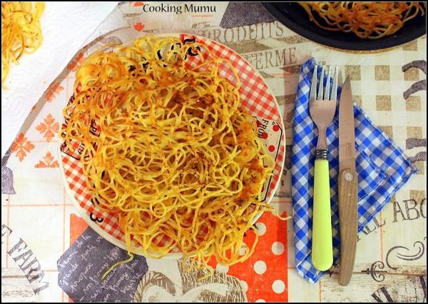 Omelette de spaghetti