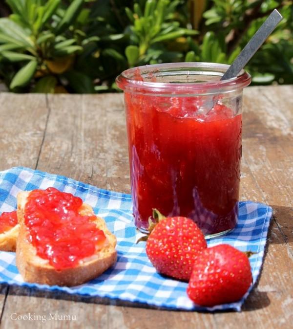 Confiture bananes fraises