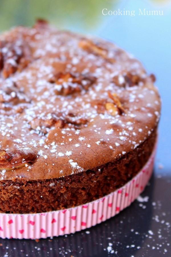 Gâteau chocolat noix