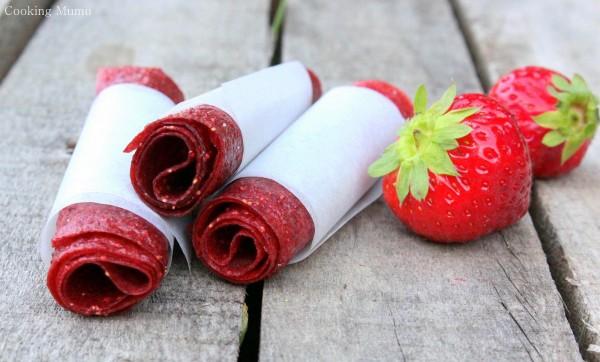 Cuir de fraise en rouleau