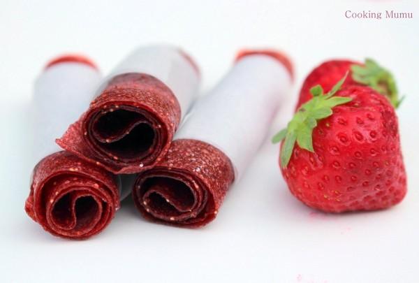 Rouleau de cuir de fruit à la fraise