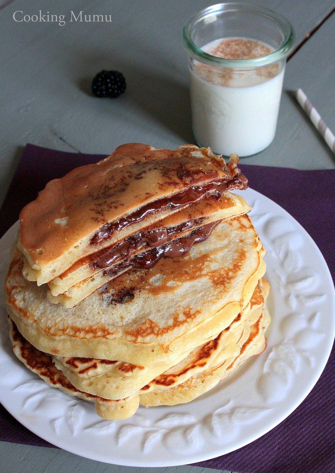 pancakes fourr 233 s au nutella